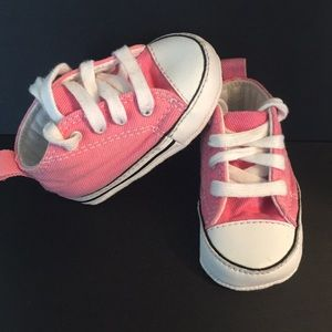 Baby girl little Converse tennis shoes